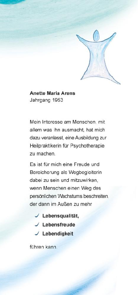 Flyer Anette Maria Arens